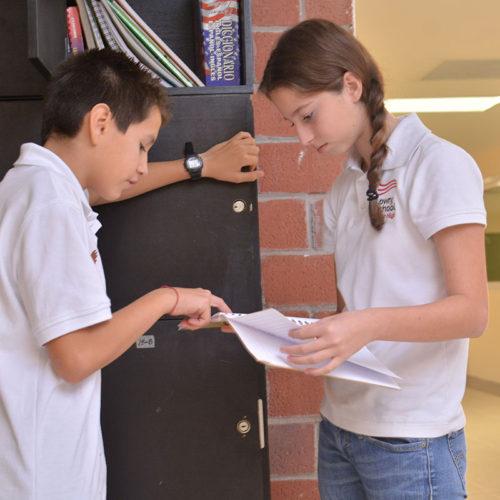 Área de lockers Colegio Lowry School Cancún